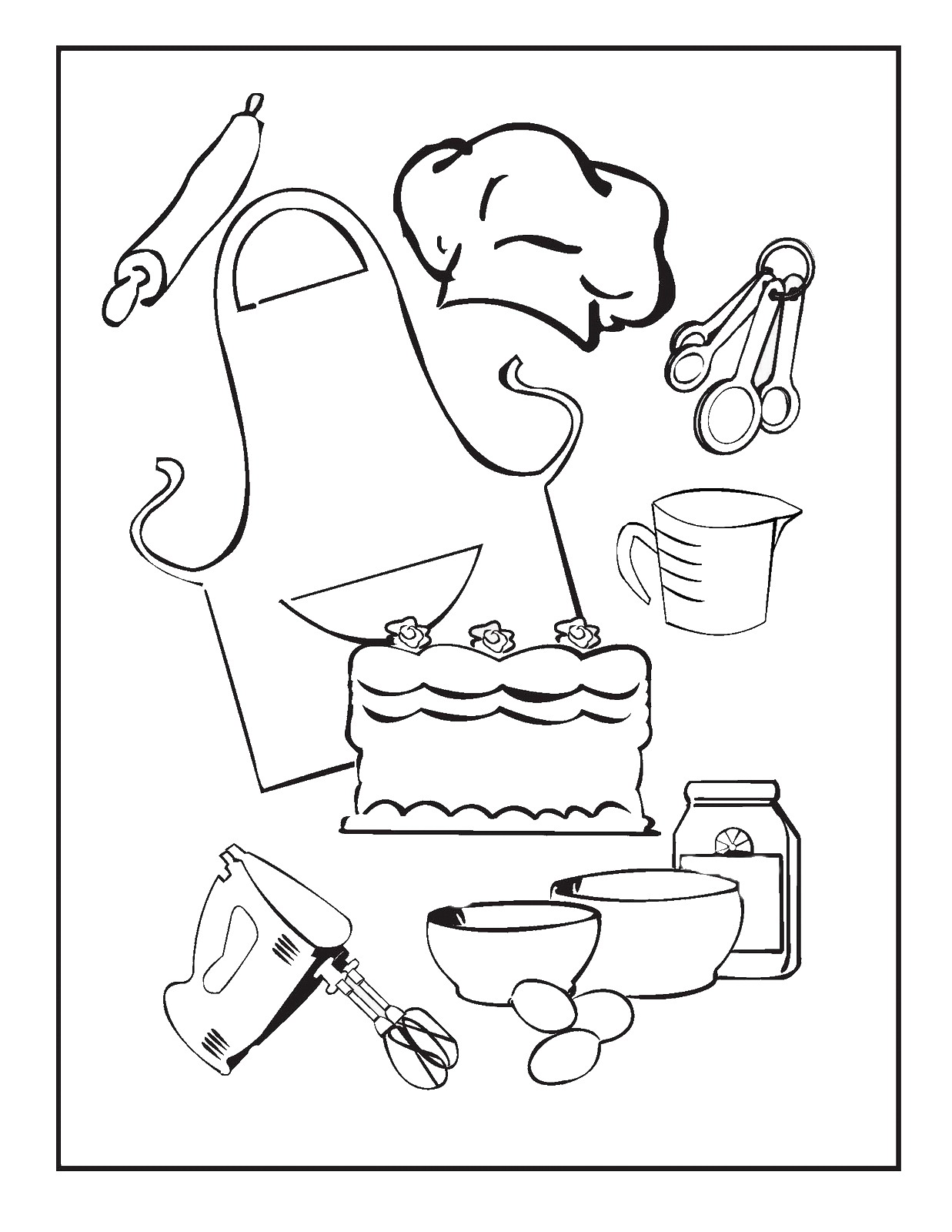 Free Coloring Pages Of Kitchen Tools