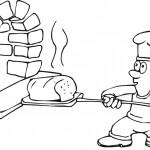 דף צביעה טבח אופה לחם