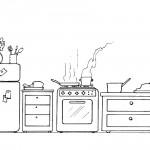 דף צביעה מטבח