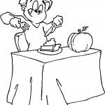 דף צביעה אכילה של עוגת דלעת