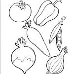 דף צביעה ירקות 1