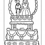 דף צביעה עוגת חתונה