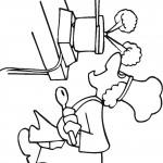 דף צביעה טבח מבשל 3