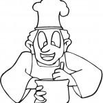 דף צביעה טבח מבשל 2