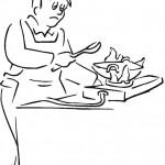 דף צביעה טבח מבשל 1