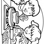 דף צביעה ילדים מבשלים