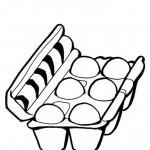 דף צביעה תבנית ביצים