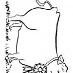 דף צביעה פרה 1