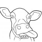דף צביעה פרה 10
