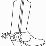 דף צביעה מגפי קאובוי 5
