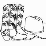 דף צביעה כובע ומגפי קאובוי