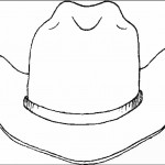 דף צביעה כובע קאובוי