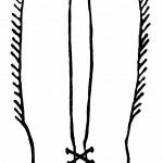 דף צביעה אפודת קאובוי