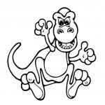 דף צביעה דינוזאור 1