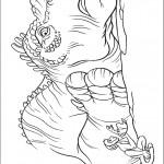 דף צביעה דינוזאור וקופיף קטן