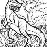 דף צביעה דינוזאור 32