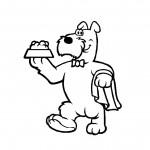 דף צביעה כלב ממלצר