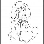 דף צביעה כלב מאוהב