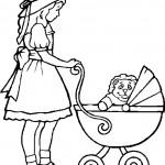 דף צביעה בובה 32