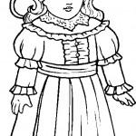 דף צביעה בובה 23