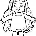 דף צביעה בובה 14