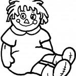 דף צביעה בובה 13