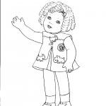 דף צביעה בובה 11