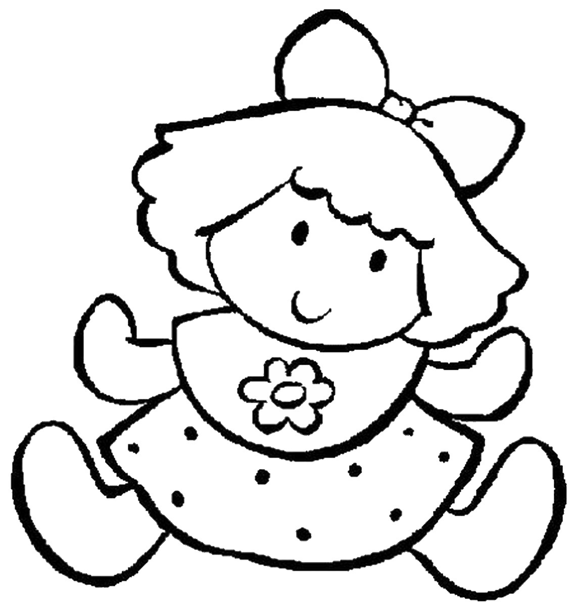 Раскраска для девочек 4 лет - 9