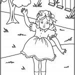דף צביעה בובה 5