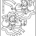 דף צביעה בובה 3