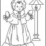 דף צביעה בובה 2