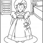 דף צביעה בובה 1