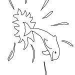 דף צביעה דולפין 6