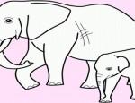 לחצו על דפי הצביעה של פילים להגדלה ולהדפסה