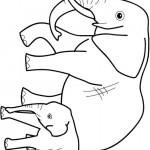 דף צביעה פיל 1