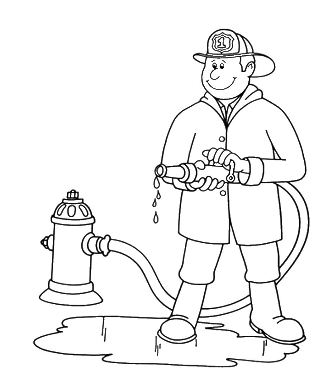 fireman and policeman coloring pages - photo#16
