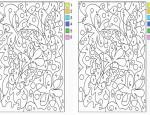 לחצו על דפי הצביעה לפי מספרים להגדלה ולהדפסה כנסו לדפי צביעה פרחים