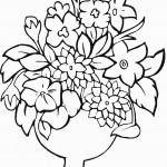 דף צביעה פרחים 21