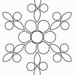 דף צביעה פרחים 19