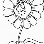 דף צביעה פרחים 17