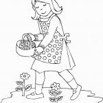 דף צביעה פרחים 16