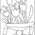 דף צביעה פרחים 14