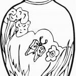 דף צביעה פרחים 13