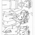 דף צביעה פרחים 10