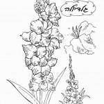 דף צביעה פרחים 9