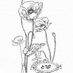 דף צביעה פרחים 6