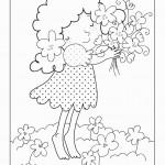 דף צביעה פרחים 5
