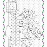דף צביעה פרחים 4