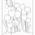 דף צביעה פרחים 3