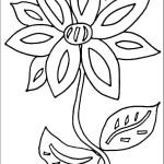 דף צביעה פרחים 70